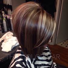bob hair with high lights and lowlights long bob red lowlights red and blonde hair red and brown and