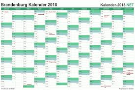 Ferienkalender 2018 Bw Excel Kalender 2018 Kostenlos
