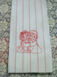 machine embroidery designs for kitchen towels shabby chic machine embroidery designs raggedy ann andy dish