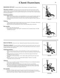 chest exercises bowflex xtl user manual page 21 80