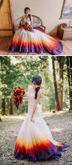 colorful wedding dresses dip dye wedding dress trend will make your big day more colorful