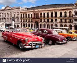 vintage cars 1950s 1950s american cars in havana old city havana cuba stock photo