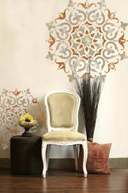 Design Your Own Home India Wall Ideas Wall Design Stencils India Round Symmetrical Mandala