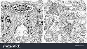 set anti stress coloring book pages stock vector 590815037