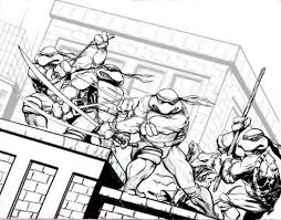 teenage mutant ninja turtles color names colouring pages