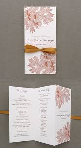 folded wedding program template program template tri fold fall leaves ceremony programs