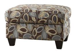 Printed Ottomans Living Room Ottomans Leaf Print Ottoman