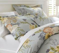 Cotton Queen Duvet Cover Nautilus Floral Organic Duvet Cover U0026 Sham Pottery Barn