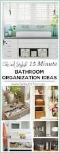 15 minute bathroom organization tips setting for four