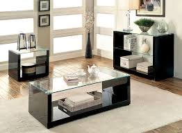 black contemporary coffee table sets contemporary coffee table