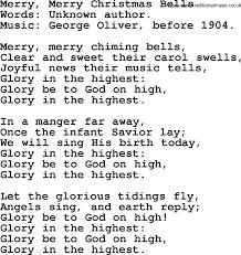 powerpoints song merry merry bells lyrics