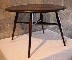 ercol windsor coffee occasional table model 308 round drop leaf