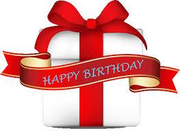 happy birthday ribbon post title
