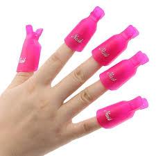 10pcs plastic acrylic nail art soak off clip cap uv gel polish