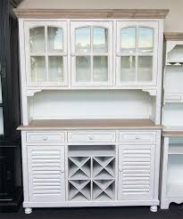 kitchen buffet hutch furniture white sideboard with wine rack abce us