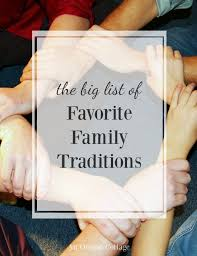 family traditions holidays and throughout the year