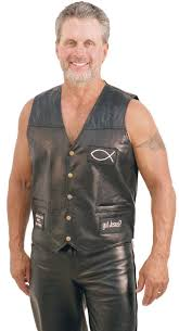 leather vest jesus forever patched leather vest vm715jck