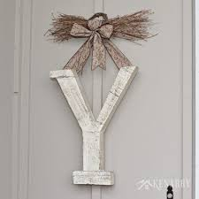 winter monogram decor for outside the front door hometalk