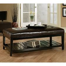 Coffee Table With Ottoman Seating Coffee Table Leather Coffee Table White Ottoman Coffee Table