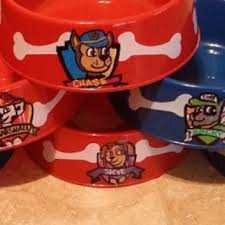 personalized serving dishes custom dog bowl party dishes paw patrol from masonalexanderinc