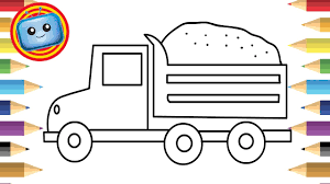 how to draw a truck colouring book simple drawing game