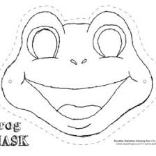 coloring printable frog mask halloween masks coloring