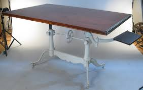 Height Adjustable Drafting Table Antique Adjustable Pedestal Cast Iron Drafting Table Iron