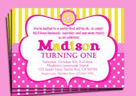 pink birthday invitations pink lemonade invitation printable or printed with free