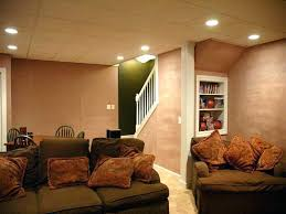 living room basement example of a classic basement design in