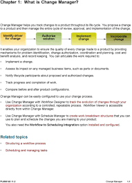 what is chagne made of siemens teamcenter change manager plm pdf