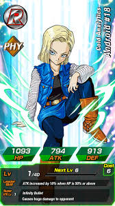 z android 18 android 18 cold analytics z dokkan battle