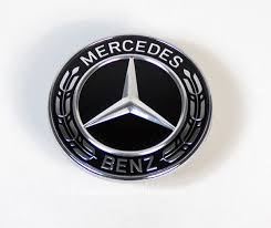 mercedes car emblem mercedes c class w205 s205 black bonnet emblem logo