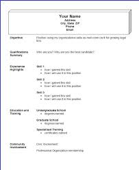 Example Resume Format Example Of Simple Resume Format Microsoft Word Resume Format