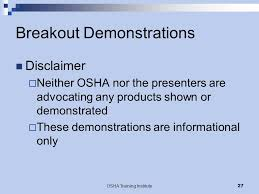 Osha Chair Requirements Osha Training Institute 1 Evacuation Challenges Principles And