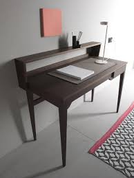 writing desk in walnut veneer with opening top idfdesign