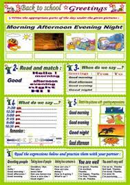 22 free esl greetings worksheets for elementary a1 level adults