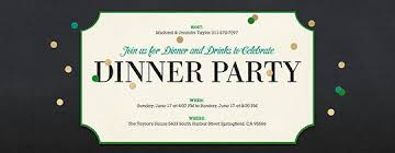 Easy Dinner Party Ideas For 12 Dinner Party Invitation Template Cimvitation