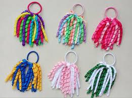 korker ribbon girl o a korker ponytail various color korker ribbons streamers