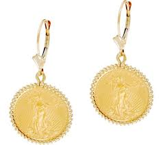 liberty earrings 14k 22k gold liberty coin leverback earrings page 1 qvc