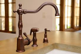 Stainless Steel Sink With Bronze Faucet Best Oil Rubbed Bronze Kitchen Faucets