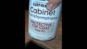 cabinet protective top coat rustoleum cabinet transformations step 3 youtube