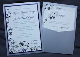 purple and silver wedding invitations purple black silver floral vine clutch pocket wedding