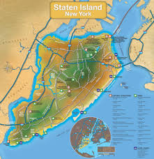Map Of New York Harbor by Staten Island Tourist Map