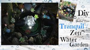 dollar tree diy tranquil zen water garden youtube