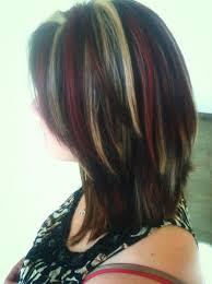 foil highlights for brown hair latest ideas for brown hair with red and blonde highlights