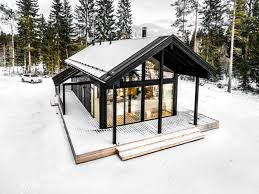 gallery of modern log villa in central finland pluspuu oy 1
