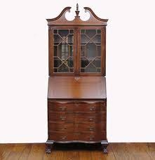 Wooden Secretary Desk by Vintage Federal Style Solid Wood Secretary Desk Ebth