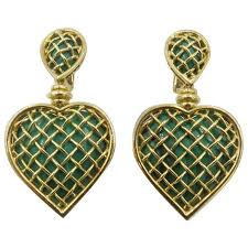 heart shaped earrings boucheron malachite gold heart shaped earrings for sale at 1stdibs