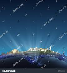 Himilayas Map India Real Relief Glow Over Himalayas Stock Illustration 70690210