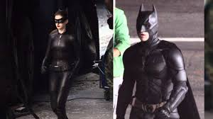 catwoman halloween suit new photos of catwoman u0026 batman on u0027the dark knight rises u0027 set